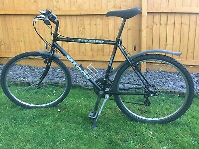 "Mens Falcon Stealth 20"" Black frame Bike  26"" wheels."