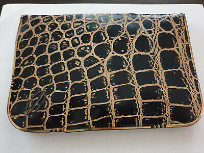 1920s Handbags, Purses, and Shopping Bag Styles DRGM Art Deco 1920s Evening Leather Bag. Branded EA. $49.00 AT vintagedancer.com