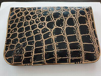 1920s Style Purses, Flapper Bags, Handbags DRGM Art Deco 1920s Evening Leather Bag. Branded EA. $49.00 AT vintagedancer.com