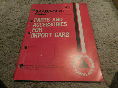 1972 SAAB VOLVO PARTS AND ACCESSORIES BECK ARNLEY MASTER PARTS CATALOG W NUMBERS