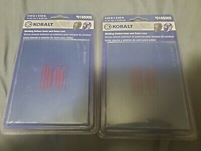 Lot Of 2 Kobalt Welding Helmet Outer Lens Replacement 4-13 X 3-12 0165005 New