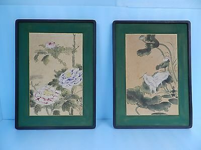 2  ORIG can u see the hidden faces?ART KOREAN PAINTING ON SILK EDDY CHANG (Face Change Frame)