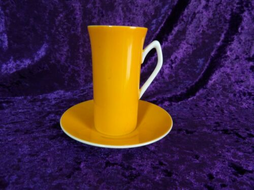 Harmony House Tall Orange Demitasse Cup and Saucer