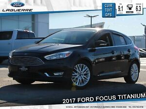 2017 Ford Focus TITANIUM**CUIR*TOIT*GPS*CAMERA*FULL !! **