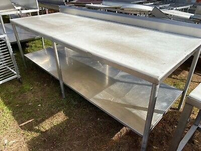 Heavy Duty 95.5 X 37.5 Commercial Stainless Steel Polytop Meat Cutting Table