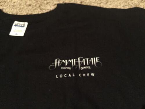 BRITNEY SPEARS rare Femme Fatale 2011 US tour crew shirt Adult XL mint