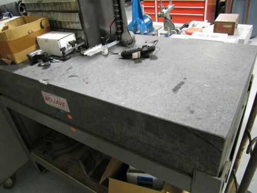 """MOJAVE 48"""" x 24"""" GRANITE SURFACE PLATE with Stand - Inspection Plate"""