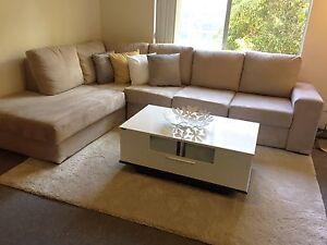 L shaped Fabric Corner Chaise Suite Meadowbank Ryde Area Preview