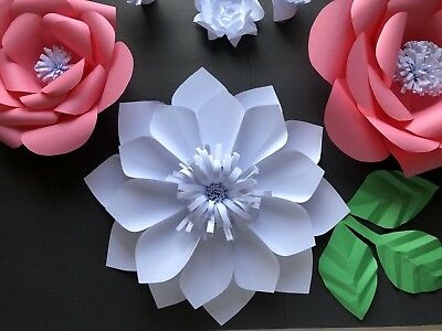 Paper Flower Template #4 Kit - DIY - Make Unlimited Flowers - Make All Sizes