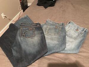 Fidelity Jeans x3  size 32/34