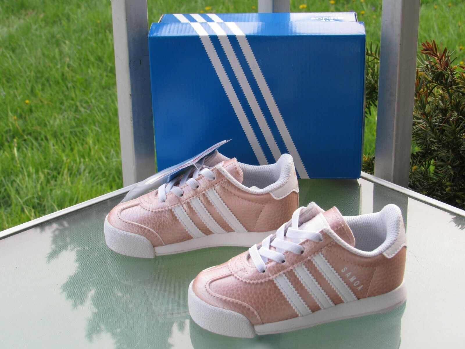 adidas Originals Samoa I Metallic Pink Ortholite Sneakers Little Girls size 7K