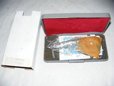 Scherr Tumico 02-0851-1411 Micrometer 0-1 Unused