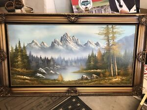 Selling scenery mountain picture frame
