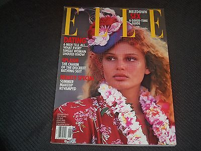1995 JUNE ELLE MAGAZINE - BRIDGET HALL FRONT FASHION COVER - O 7033
