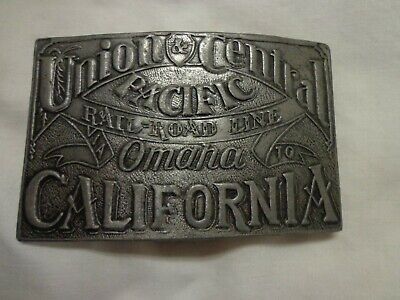 Union Central Pacific Railroad, Omaha to California metal Belt Buckle (Omaha California)