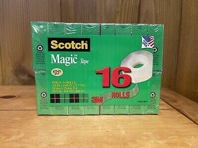 Scotch Magic Tape Value Pack 34 X 1000 1 Core Clear 16pack 810k16