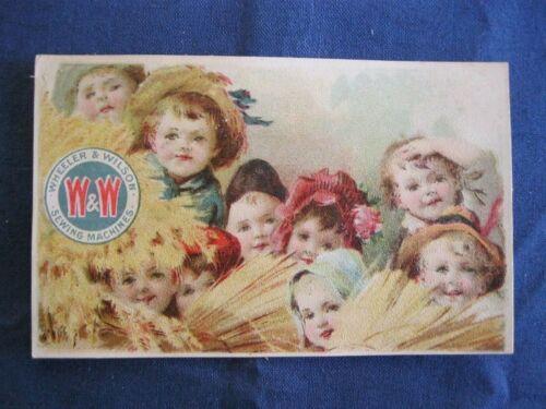 Victorian Trade Card J.B Johnson Lisle NY Wheeler & Wilson Sewing Machine c  4A