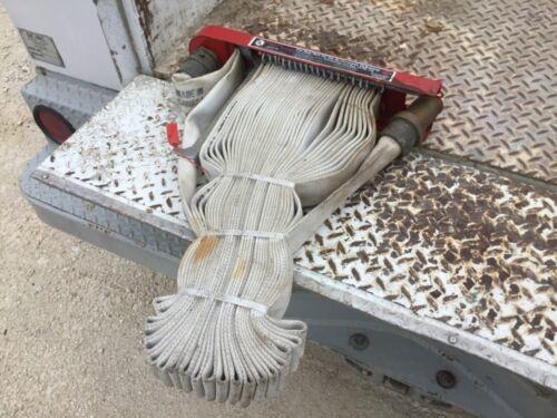 Personal fire hose rack