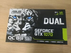 Pre-Owned ASUS GeForce GTX1070 Dual Graphics Card, 8 GB Memory, OC Edition