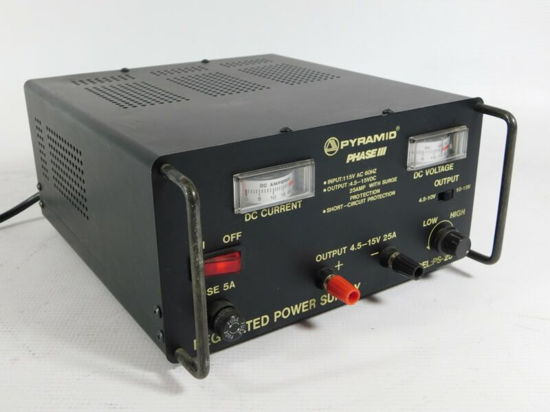 Pyramid Phase III PS-25 25A Power Supply (excellent condition)