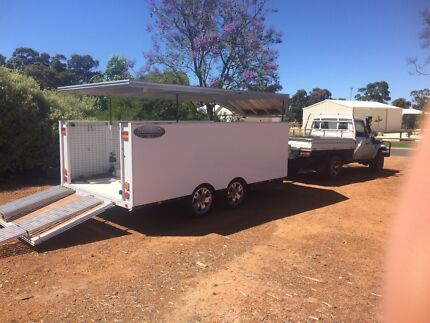 Enclosed trailer - Custom electric roof