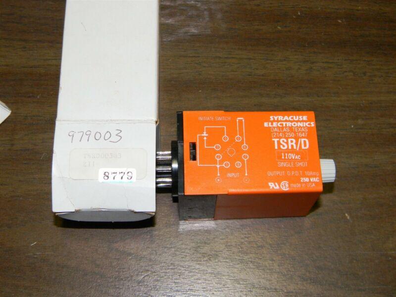 Syracuse TSR/D TSRD00303 Single Shot, 110 VAC, Output D.P.D.T. 10 Amp 250 VAC