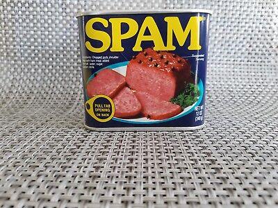Hormel Spam 50th Anniversary Tin Can Piggy Bank Top Coin Slot