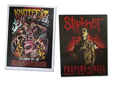 - Slipknot 2 Piece Wall Poster Gift Set New Official Heavy Metal Knotfest Hell