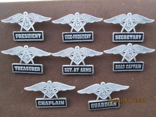 low 12 riders freemasons motorcycle 8 masonic officer pins