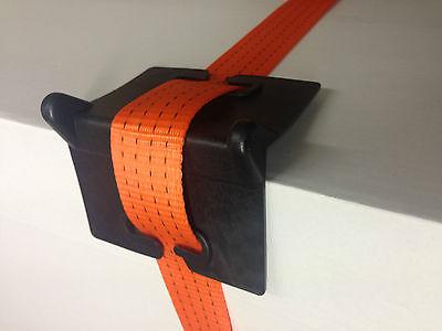 (PACK OF 25), Plastic Corner Edge Protectors for Ratchet Straps HGV Lashing