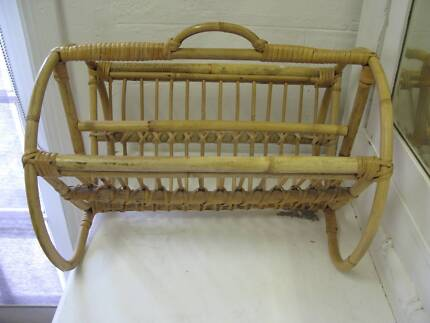 CANE Bamboo MAGAZINE RACK Timber Mag Display Stand North Plympton West Torrens Area Preview