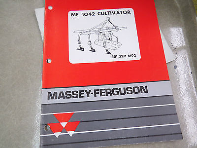 Massey-ferguson Mf 1042 Cultivator Parts Book