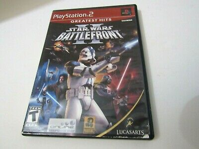 Star Wars Battlefront 2 Sony Playstation 2 Game PS2 Complete ( TESTED )