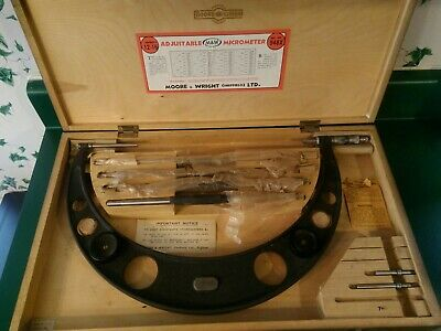 Moore And Wright No. 948x 12-16 Outside Micrometer 0.001 With Ratchet Stop.