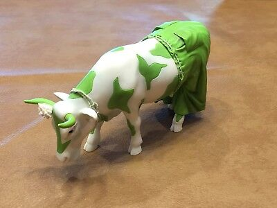 Cow Parade - Clean Jean The Green Holstein Retired 2002 Excellent Condition