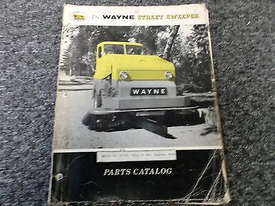 Wayne 770 Street Sweeper Factory Orginial Parts Catalog Manual Manual