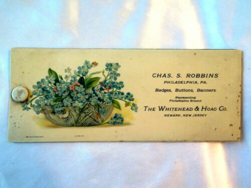 1913 Whitehead Hoag Co. Ink Blotter SELF PROMO SAMPLE