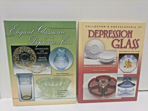 Depression Glass & Elegant Glass Of The Depression Era- 2 Books By Gene Florence