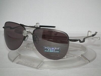 NEW OAKLEY POLARIZED TAILPIN AVIATOR SUNGLASSES OO4086-04 Carbon / Prizm Daily  (Oakley Tailpin)