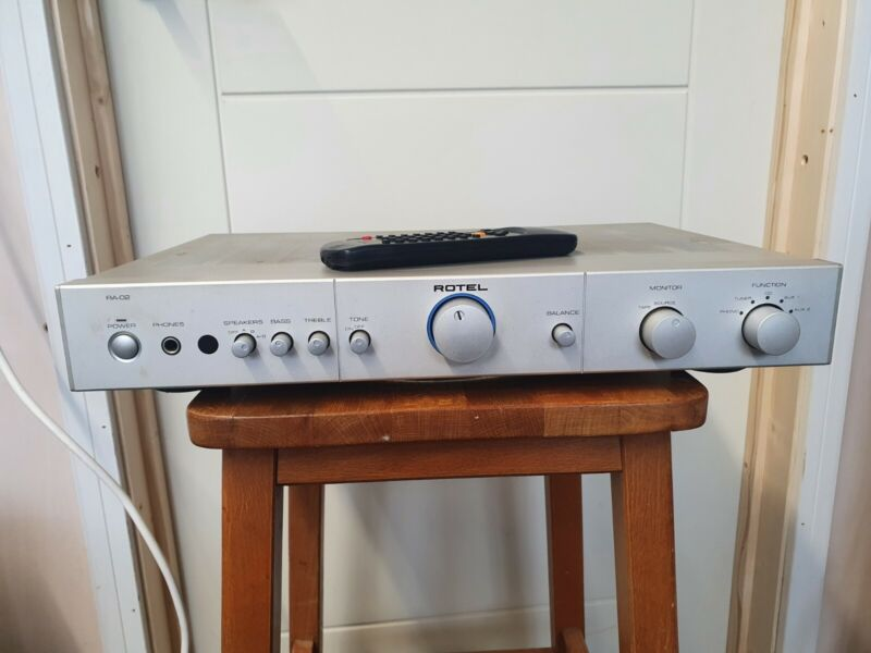 Rotel amplifier RA-02 with remote.