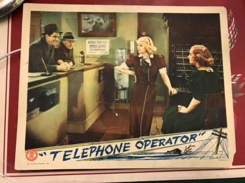 "Telephone Operator 1937 Monogram 11x14"" lobby card Alice White Judith Allen"