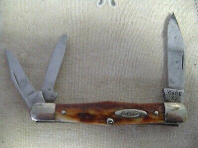 Vintage 1940-1964 Case XX 2383 Whittler pocket knife Stag handle