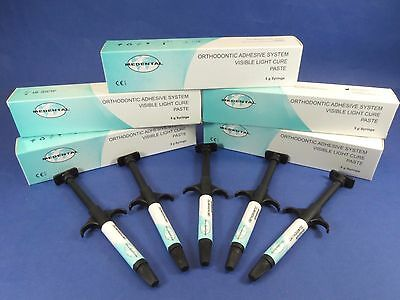Dental Composite Orthodontic Adhesive Light Cure Kit 5 Syringes Medental