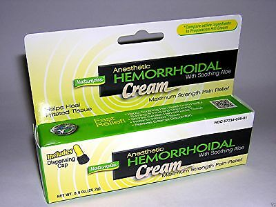 Natureplex Hemorrhoid Hemorrhoidal Cream Soothing Aloe Strength Relief