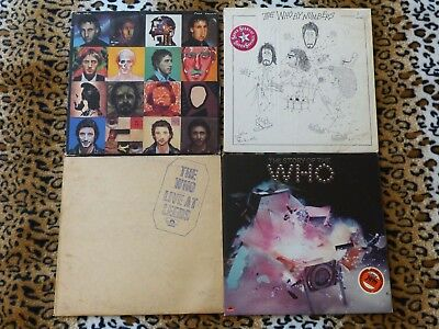 The Who 5 vinyl record lot - Live at Leeds The Story BEST Face Dances By