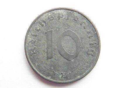 H124     DRITTES REICH 10 Pfennig Zink 1943 E