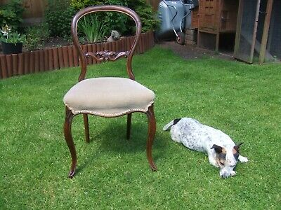 walnut balloon back chair