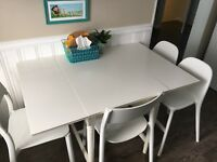 Ikea White Ingatorp Drop Leaf Table Dining Tables Sets