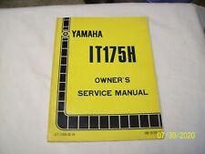 Yamaha IT175H Owner Service Manual 1981 + Wiring Diagram ...