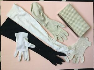Vintage Gloves and Clutch